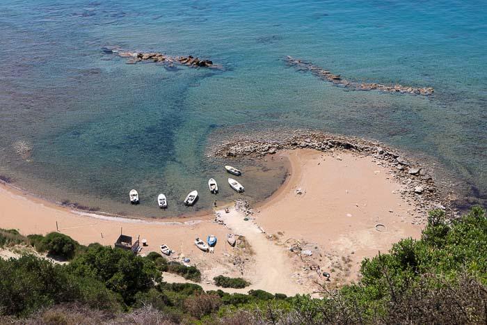 plaża skalia Korfu