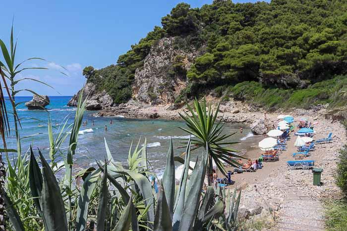 plaża yaliskari Korfu