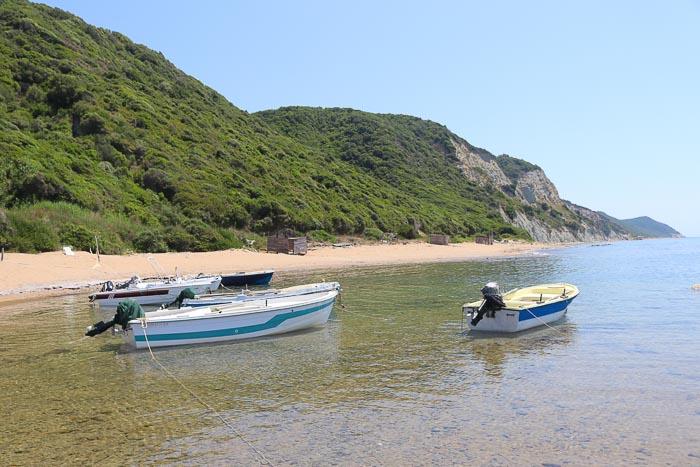 plaże na Korfu Skalia Beach