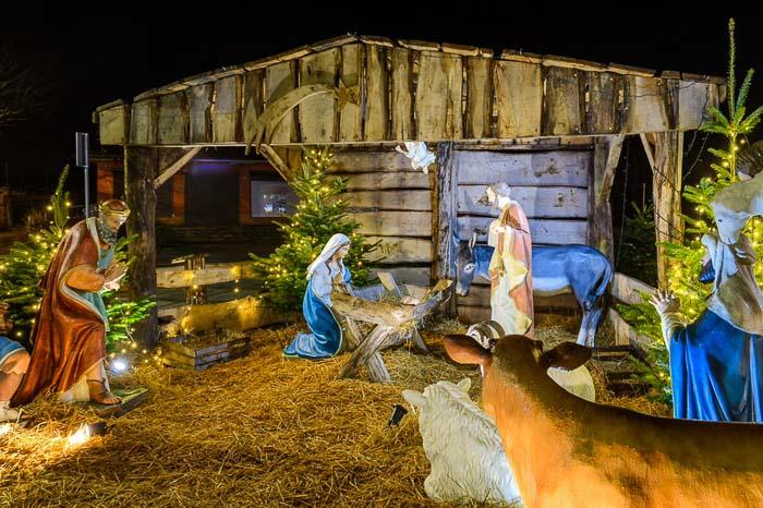 święta Bożego Narodzenia nad morzem szopka